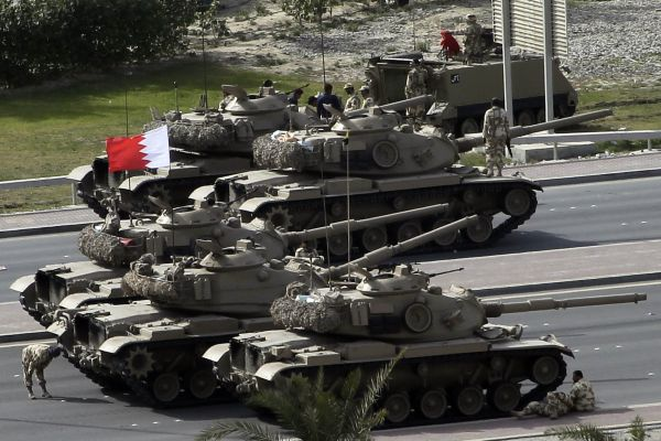 bahrain Army near Pearl Square