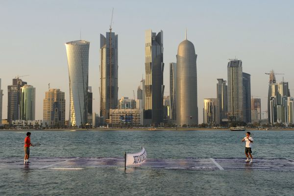 Doha ,Qatar Tennis Court on Rafael Nadal