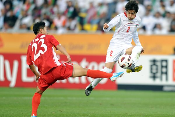 Irani Footballer Haideri with N Korea Kim