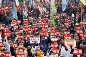 South Korea Protest FTA