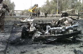 Iraq Twin Car Bomb Blast @ Baghdad Green Zone