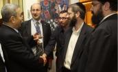 Rabbi Levi Shemtov with Israeli Defence minister Yahud Barak.