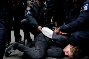 US New Yorker Protester arrested