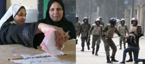 Egyptian Women Beaten & Voting
