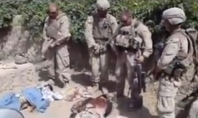 US Marine Urinating over Dead Taliban Corpse