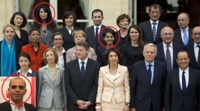 French Cabinet with 3 Muslim Ministers 2012