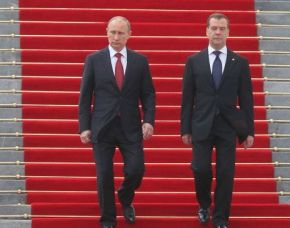 Russian President Putin with Vladimir Putin May 7 , 2012