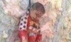 Syrian Rebels Hang Shia Child after Killing his family
