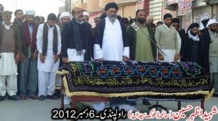 Shaheed Azhar Hussain , Funeral