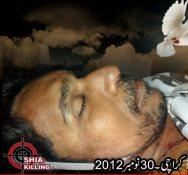 Shaheed Nazar Abbas , 30 Nov 2012 , Karachi,