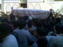 Shaheed Nazar Abbas Funeral c