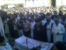 Shaheed Nazar Abbas Funeral d