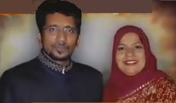 Shaheed Nazar Abbas Zaidi with Wife , 30 Nov , 2012 , Karachi