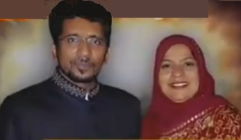 Shaheed Nazar Abbas Zaidi with Wife , 30 Nov , 2012 , Karachi