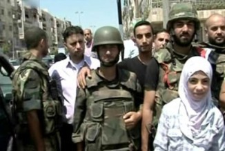 Syrian Armed forces rescue 4 childer the wey