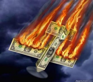 Dollar Going Down in Flames