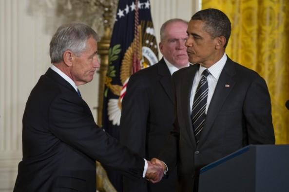 Nominated US Defence Secretary Chuck Hagel