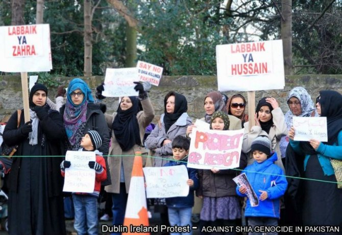 Protest in Ireland against Shia Killing In Pakistan , Jan 2013 f
