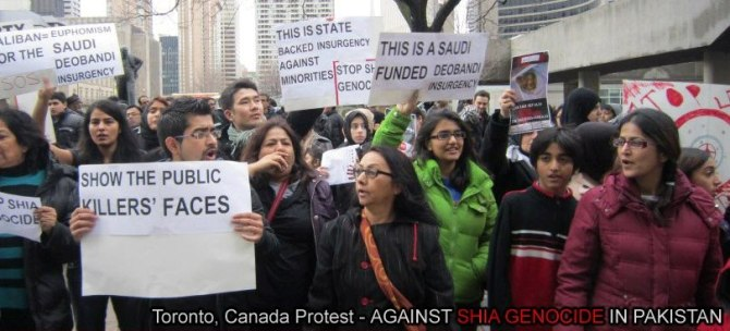 Protest in Toronto  against Shia Target Killing in Pakistan Jan 2013 c