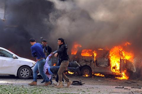 A Suicide Car Bomb Blast in Damascus 21 Feb 2013 a