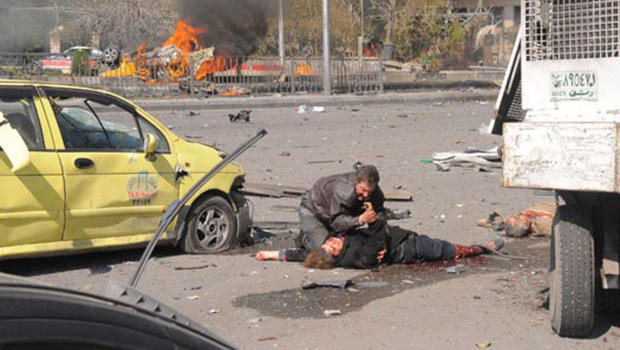 A Suicide Car Bomb Blast in Damascus 21 Feb 2013
