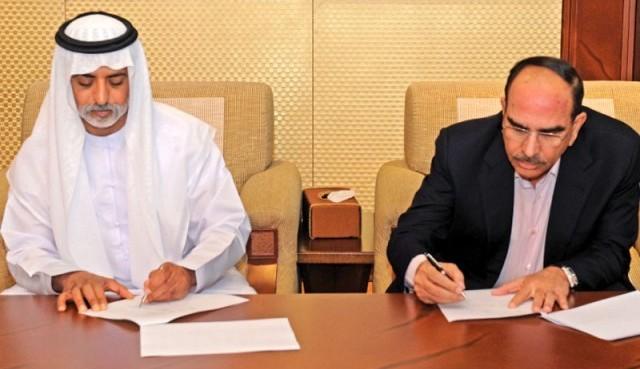 Abu Dhabi Group - Sheikh Nahayan bin Mubarak al-Nahayan  with Malik Riaz Hussain