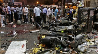 Bomb Blasts in Hyderabad , India 22 Feb 2013
