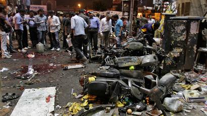 Bomb Blasts in Hyderabad , India 22 Feb 2013