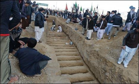 Burial of the Kirani Road Blast Shia Hazara