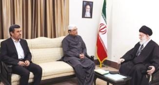 Iran's Presidents Mahmoud Ahmadinejad, Asif Ali Zardari and Iran's Supreme Leader Ayatollah Ali Khamenei