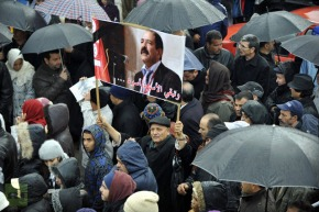 TUNISIA-POLITICS-UNREST-OPPOSITION-FUNERAL