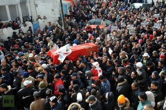 TUNISIA-POLITICS-UNREST-OPPOSITION-FUNERAL