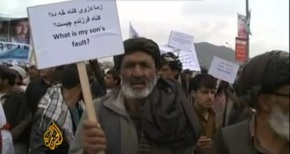 Afghans Protest for the Removal of US Forces from Maidan Wardak
