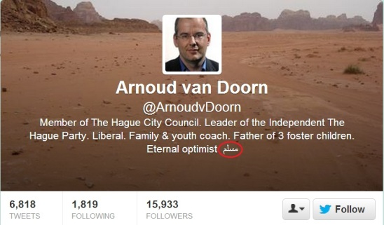 Anti Islam Arnoud Van Doorn accepts Islam