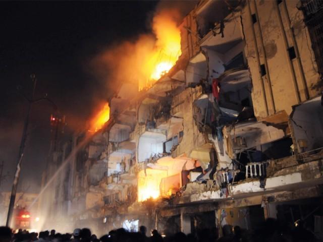 Bomb Blast @ Abbas Town , Karachi