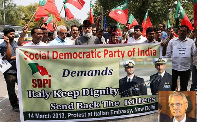 Indian Protest Against Itlaian Govt