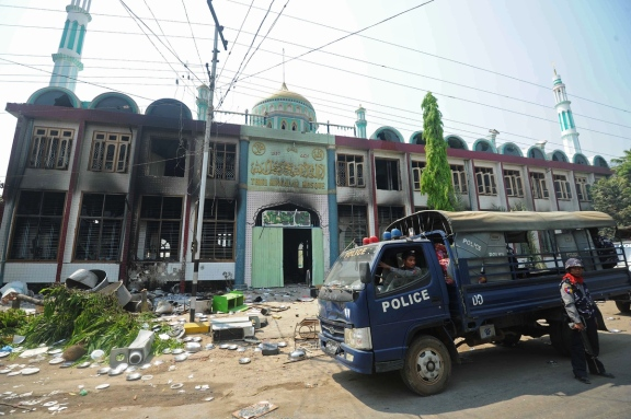 Myanmar's Rohingya Muslims Mosque Burnt.