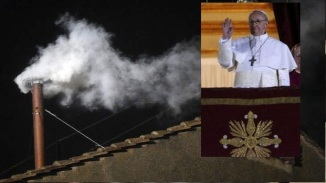 New Pope Elected White Smoke Released from the Chimney
