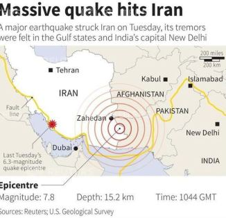 A Massive 7.8 Quake Hits Iran
