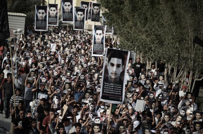 Bahraini Protest Before Grand Prix F1 , 2013 s
