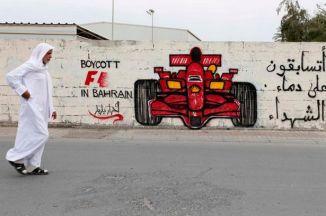 Boycott Bahrain GP Grafitti