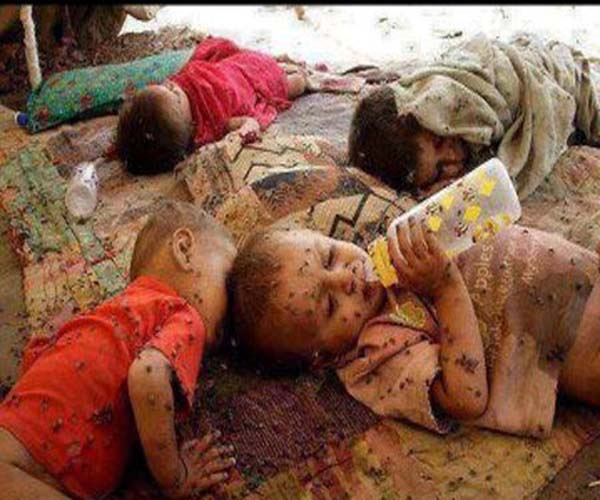 Syrian Children under condemnable Conditions at Refugee Camps