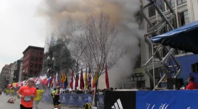 Twin Bomb Blast in Boston Marathon c