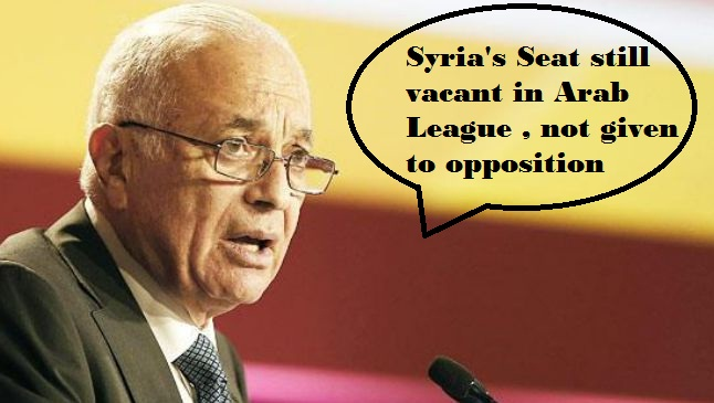 Arab League Secretary General Nabil al-Arabi