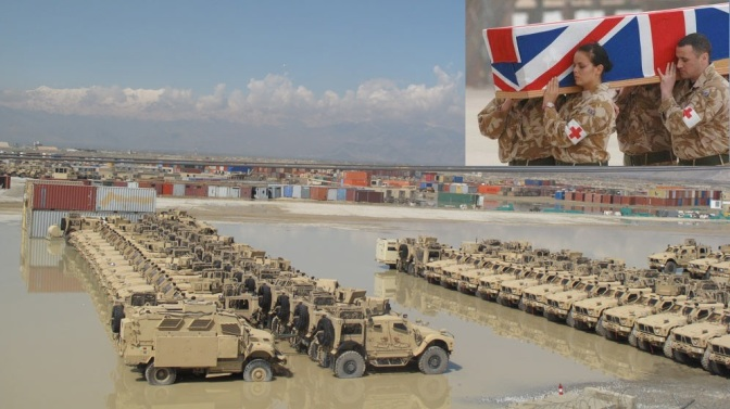 American MRAP vehicles in Afghanistan