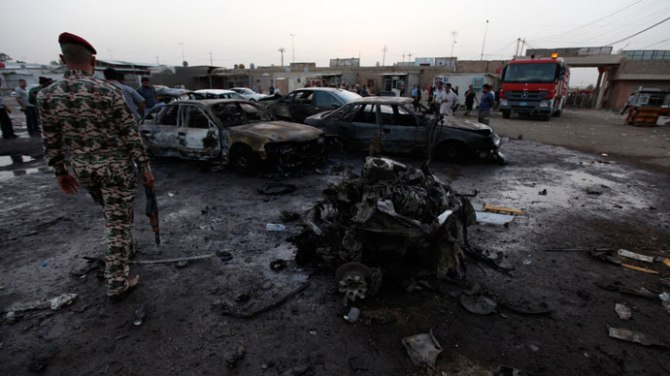Car Bomb Blasts on 27 May , 2013 in Baghdad , Iraq b