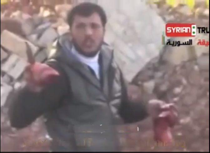 Syrian FSA Terrorist Eats out Heart of a Soldier