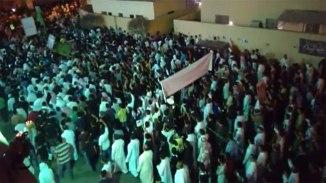 Arabian Shia attend Funeral of Martyred Shia Men