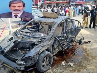 Justice Maqbool Baqar Convoy Attacked on Burns Road , Karachi, 26.06.13 g