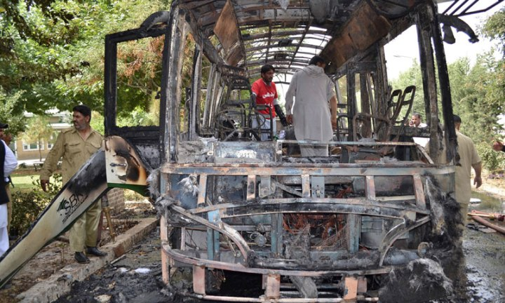 Pakistani University Girls Bus Blasted by terrorists